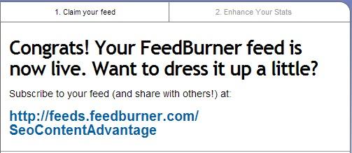 Google FeedBurner Finish
