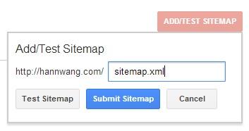 Google Webmaster Sitemap Test