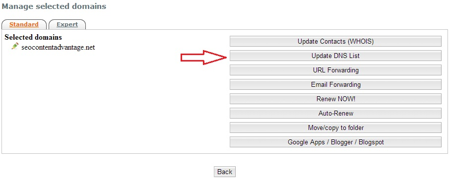 InternetBS Change DNS