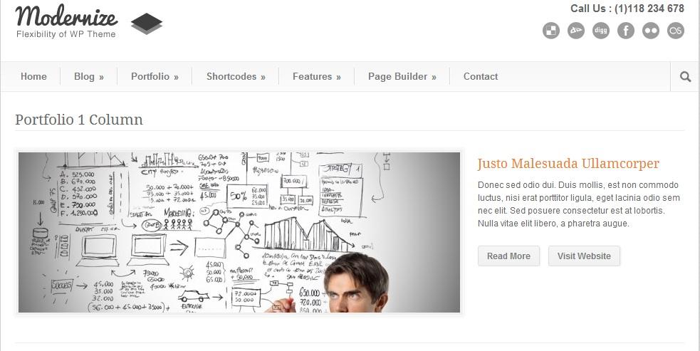 Modernize Portfolio Page